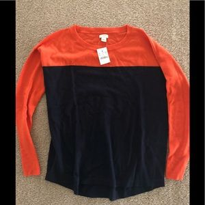 NWT JCrew color block sweater